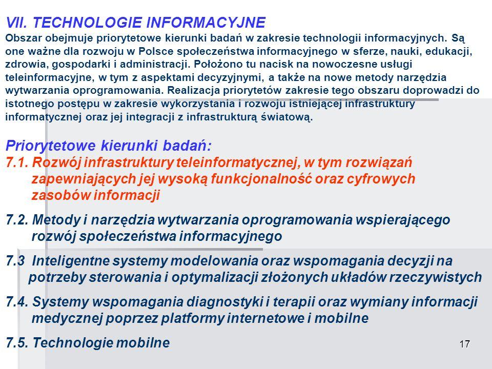 VII. TECHNOLOGIE INFORMACYJNE