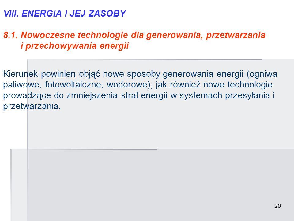 VIII. ENERGIA I JEJ ZASOBY