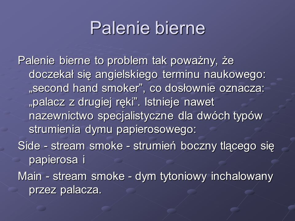 Palenie bierne