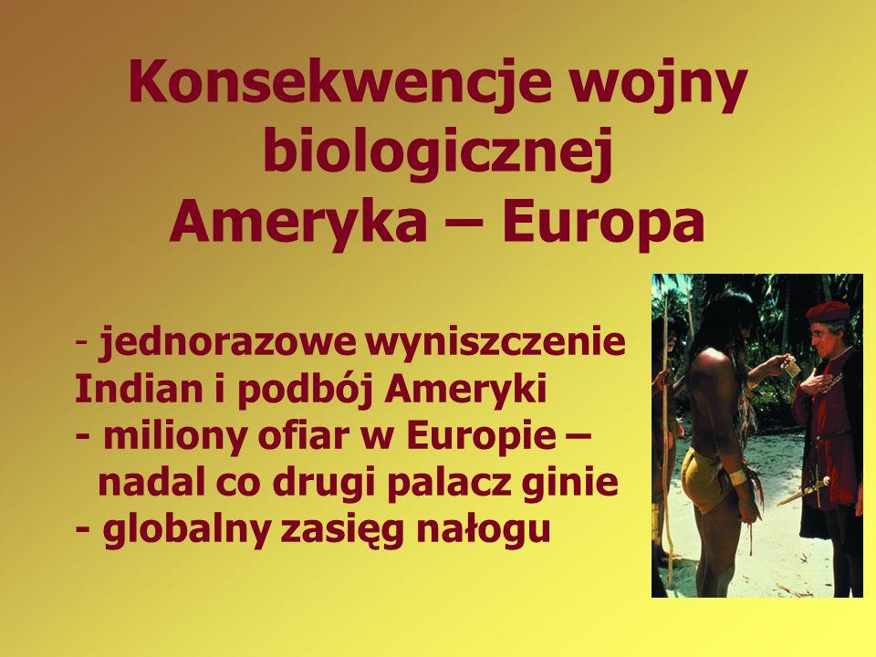 Konsekwencje wojny biologicznej Ameryka – Europa