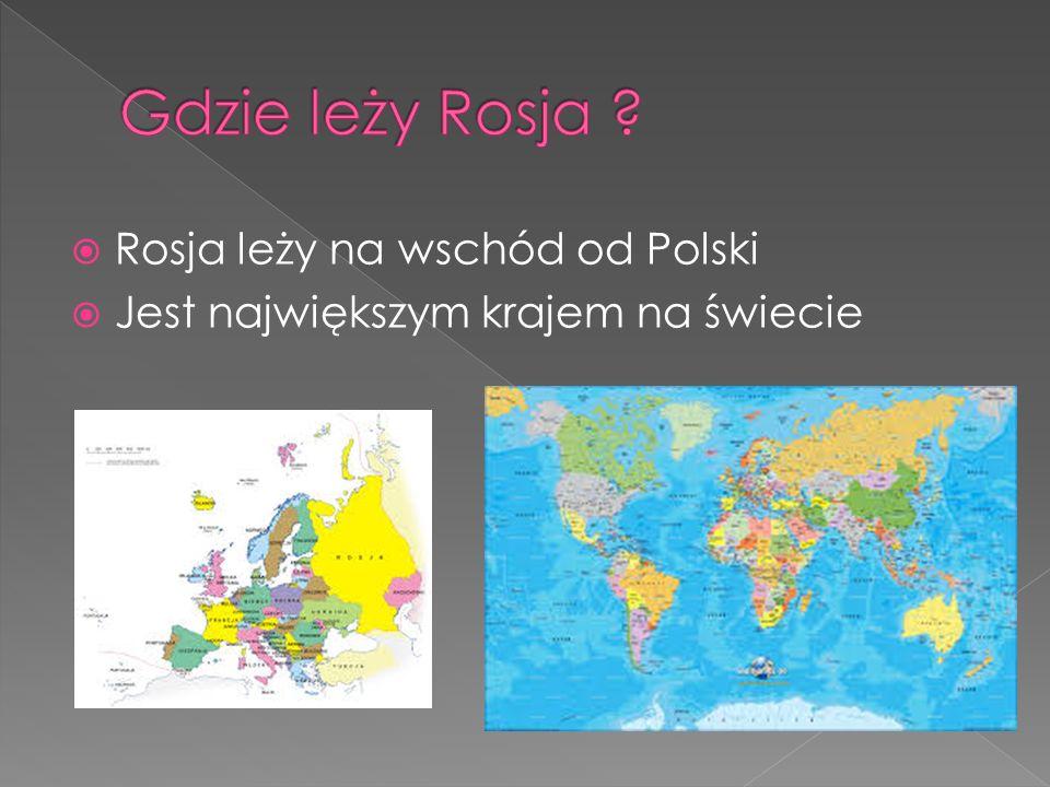 Gdzie leży Rosja Rosja leży na wschód od Polski