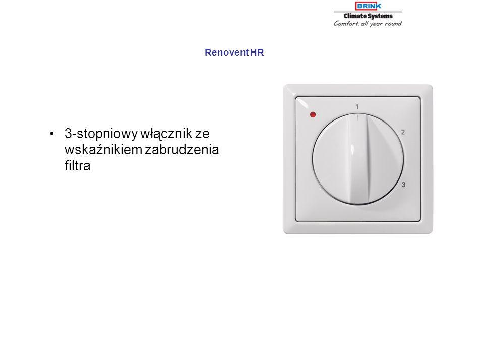 3-stopniowy włącznik ze wskaźnikiem zabrudzenia filtra