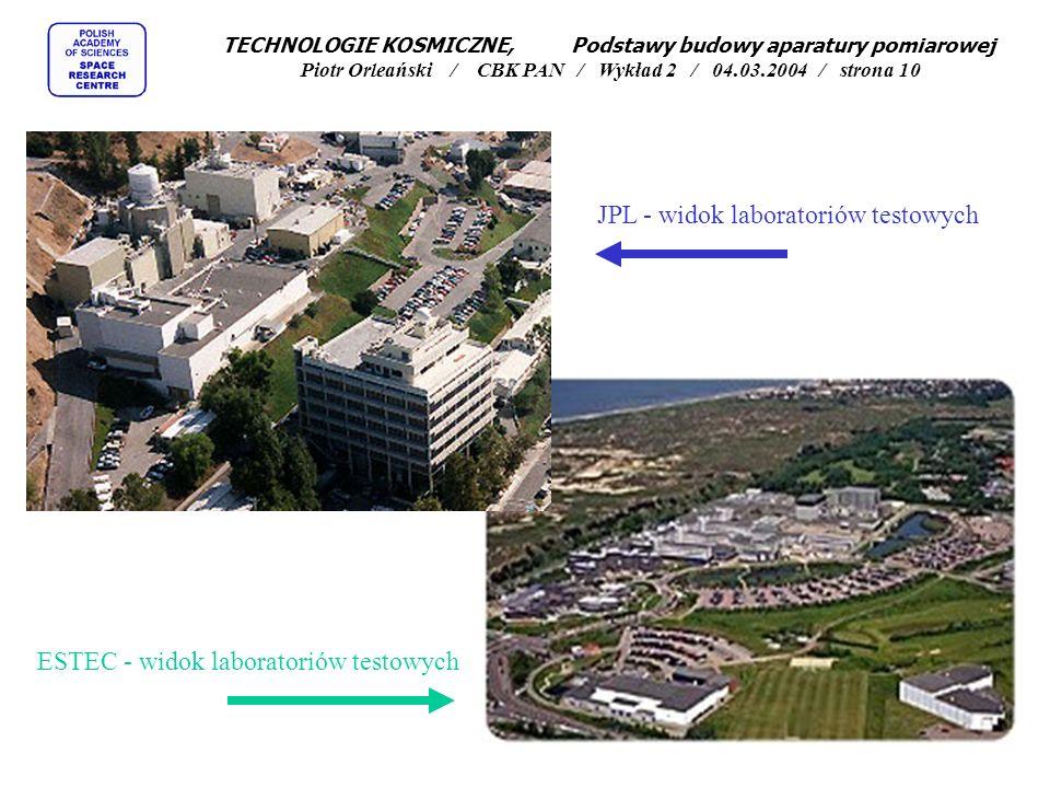 JPL - widok laboratoriów testowych