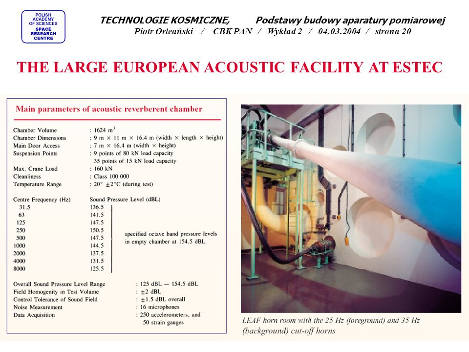THE LARGE EUROPEAN ACOUSTIC FACILITY AT ESTEC