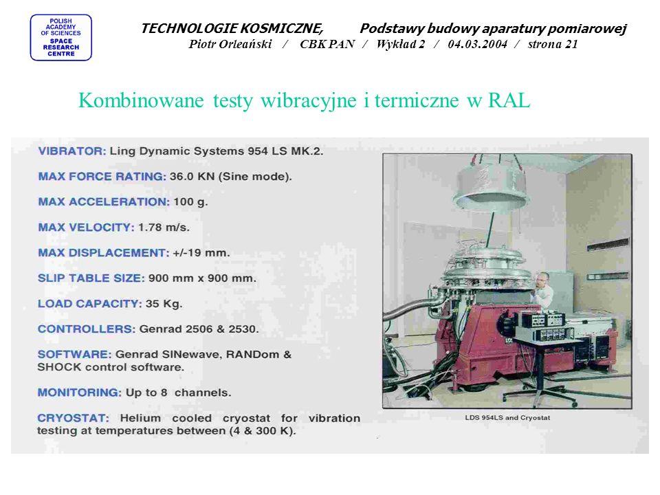 Kombinowane testy wibracyjne i termiczne w RAL