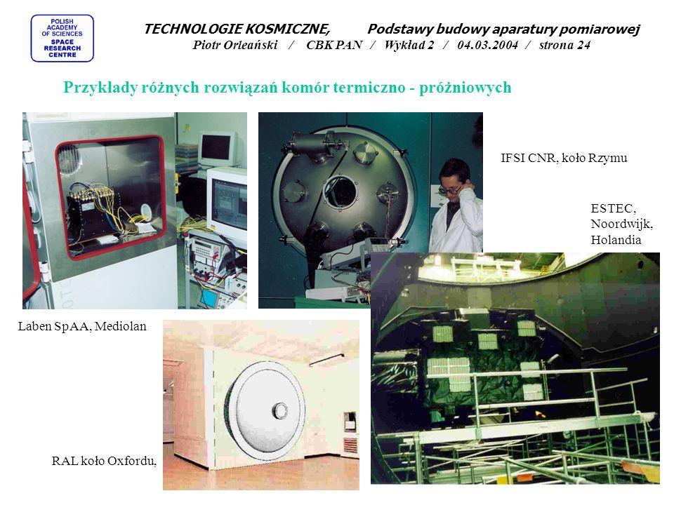 Przykłady różnych rozwiązań komór termiczno - próżniowych