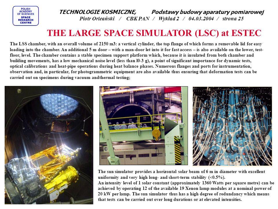 THE LARGE SPACE SIMULATOR (LSC) at ESTEC