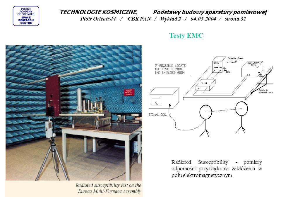 TECHNOLOGIE KOSMICZNE, Podstawy budowy aparatury pomiarowej Piotr Orleański / CBK PAN / Wykład 2 / 04.03.2004 / strona 31