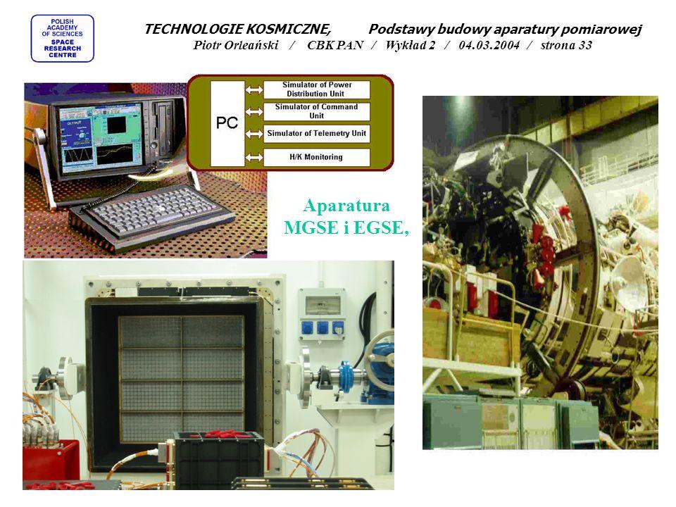 TECHNOLOGIE KOSMICZNE, Podstawy budowy aparatury pomiarowej Piotr Orleański / CBK PAN / Wykład 2 / 04.03.2004 / strona 33