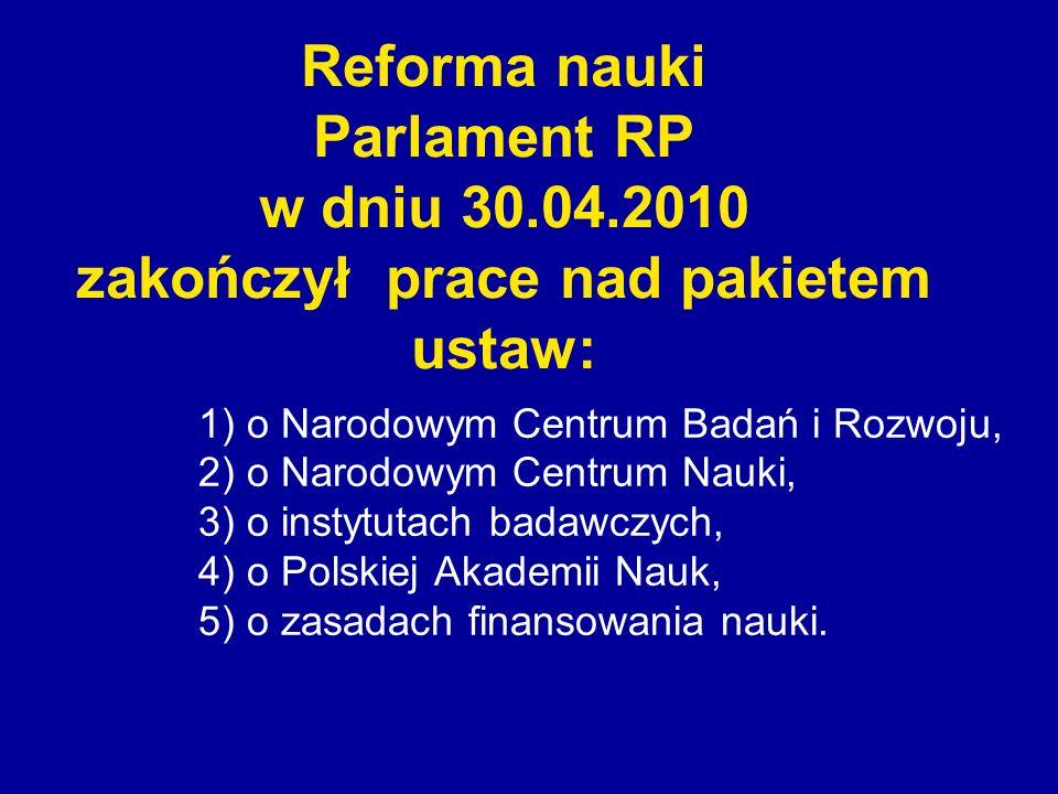 Reforma nauki Parlament RP w dniu 30. 04