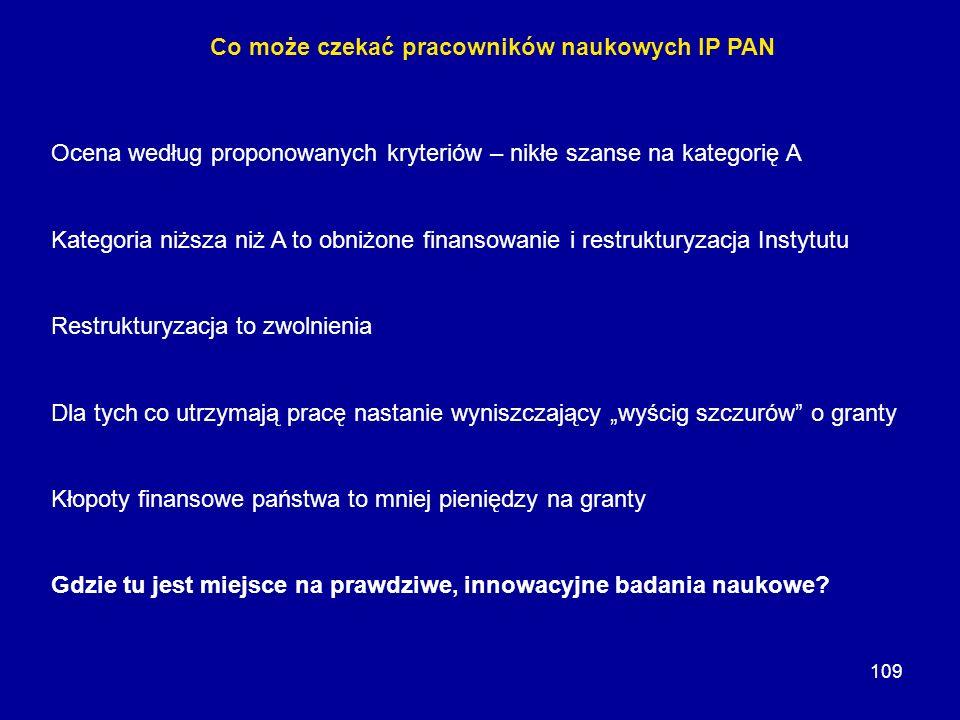 Co może czekać pracowników naukowych IP PAN