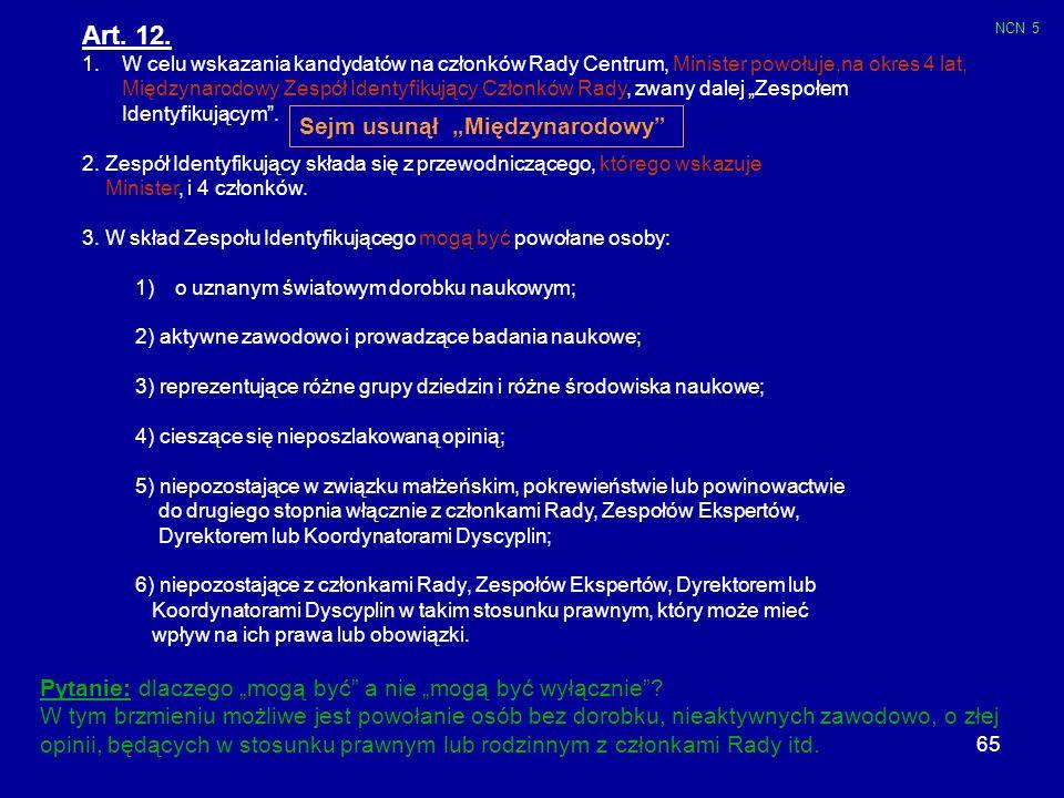 """Art. 12. Sejm usunął """"Międzynarodowy"""