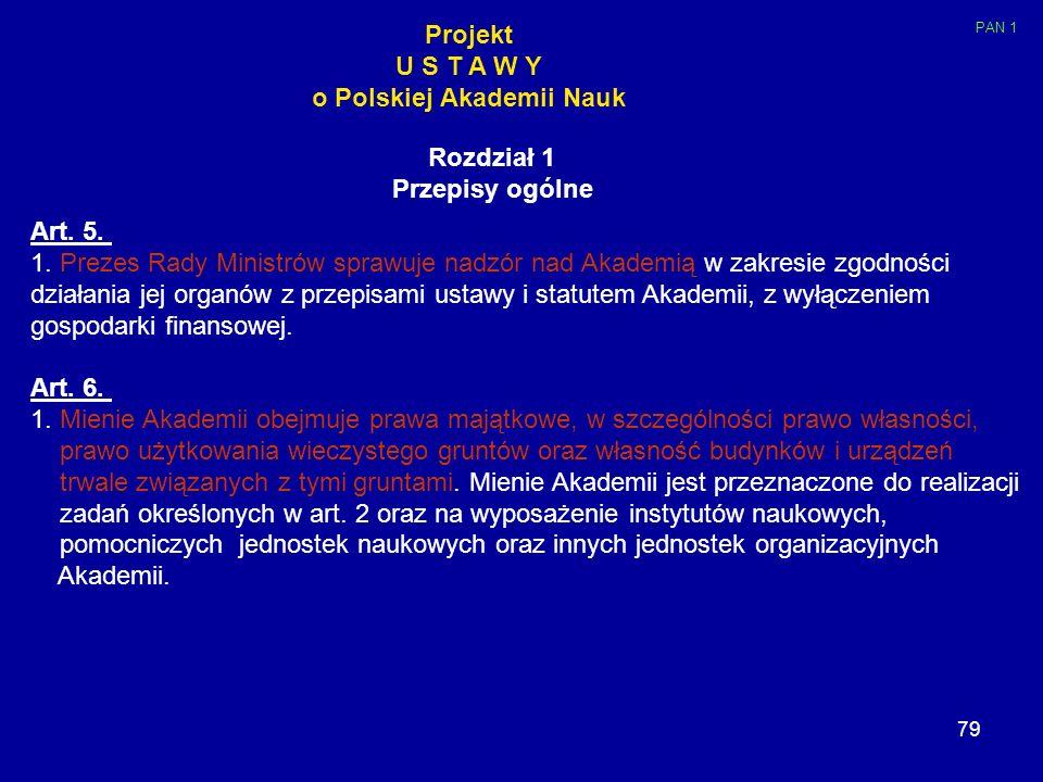 o Polskiej Akademii Nauk