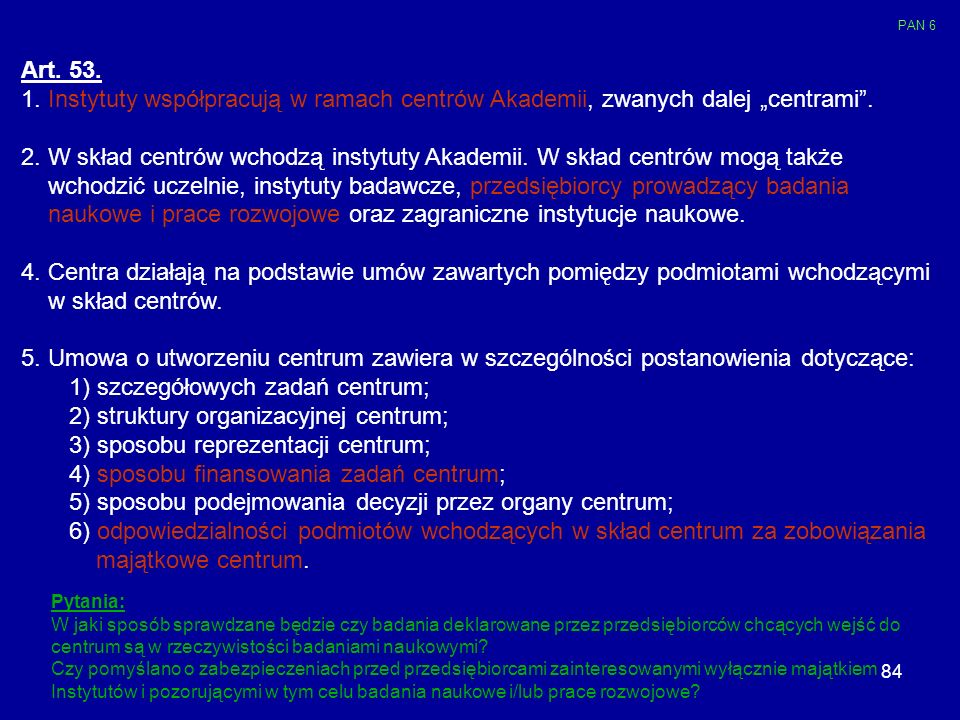 naukowe i prace rozwojowe oraz zagraniczne instytucje naukowe.