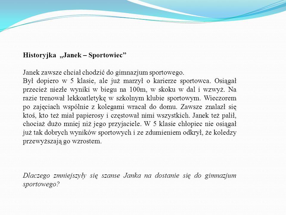 "Historyjka ""Janek – Sportowiec"