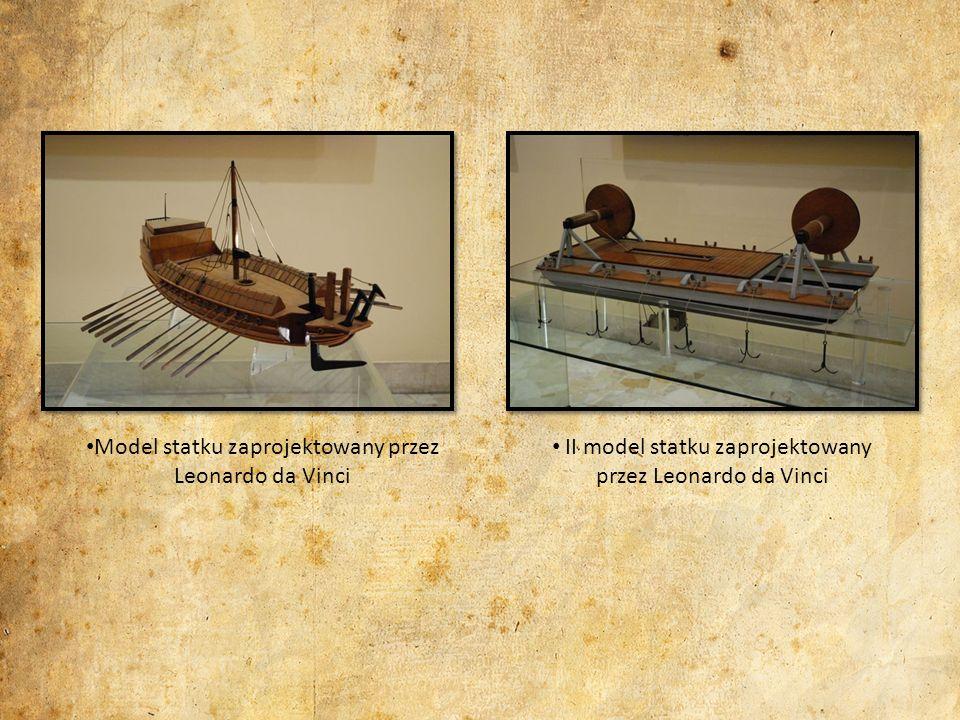 Model statku zaprojektowany przez Leonardo da Vinci