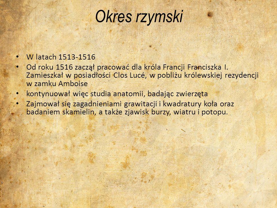 Okres rzymski W latach 1513-1516