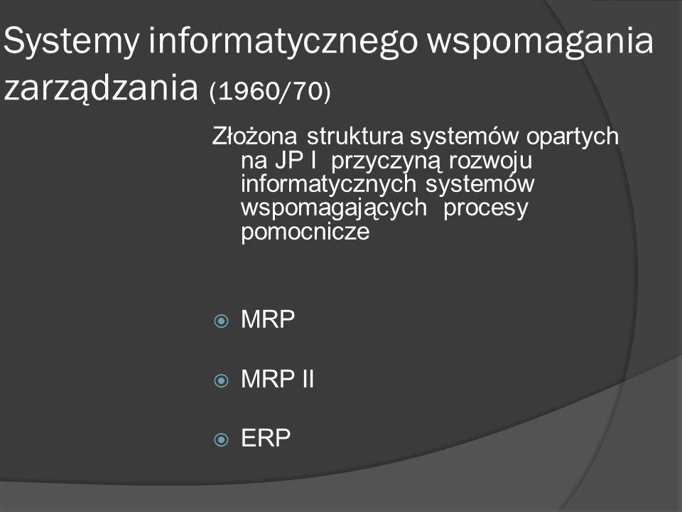 Systemy informatycznego wspomagania zarządzania (1960/70)