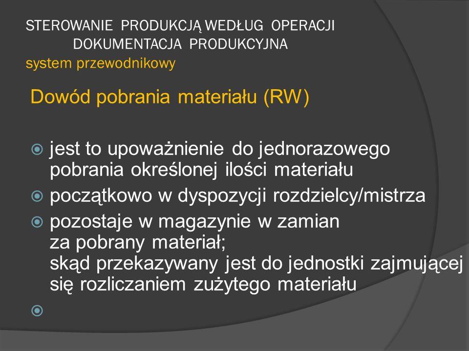 Dowód pobrania materiału (RW)