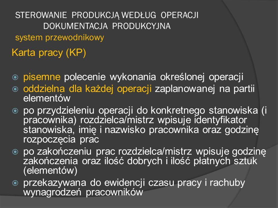 pisemne polecenie wykonania określonej operacji