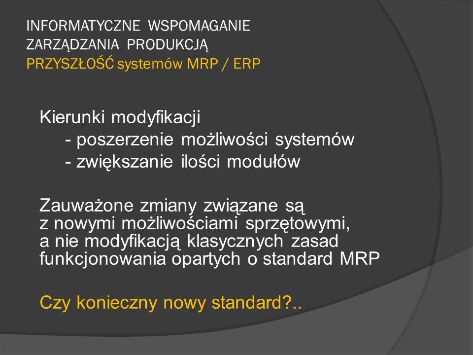 - poszerzenie możliwości systemów - zwiększanie ilości modułów