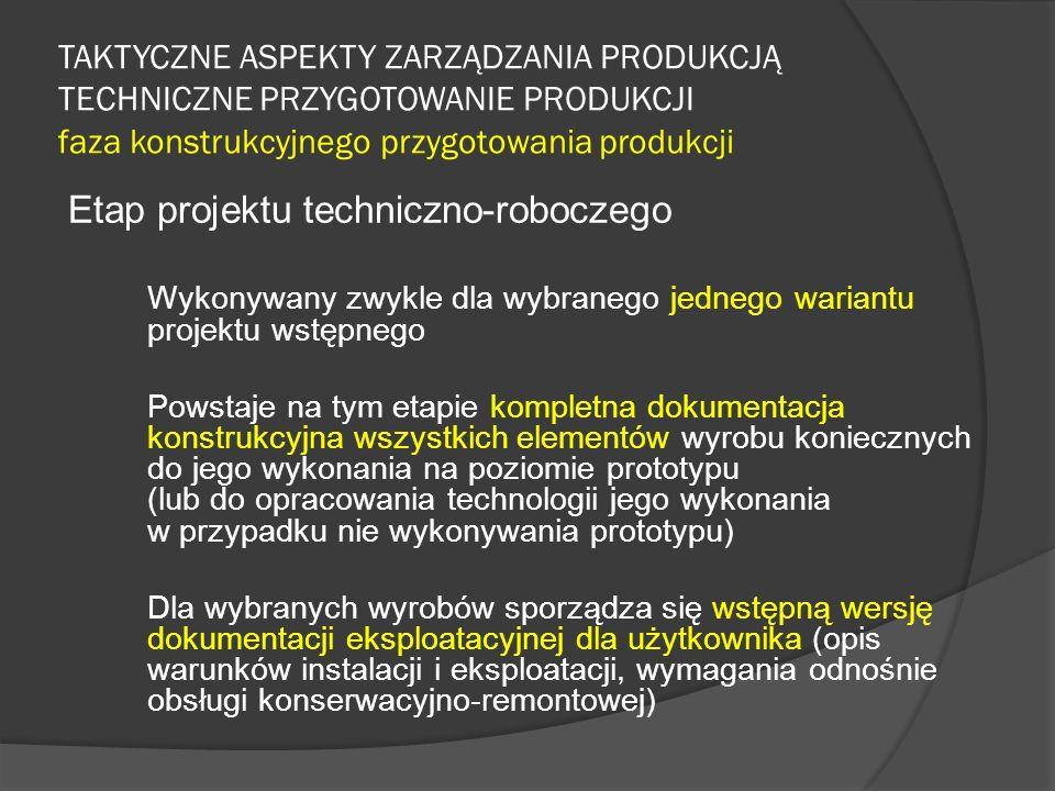 Etap projektu techniczno-roboczego