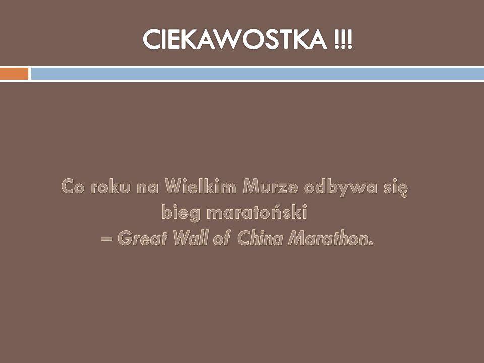 Co roku na Wielkim Murze odbywa się – Great Wall of China Marathon.