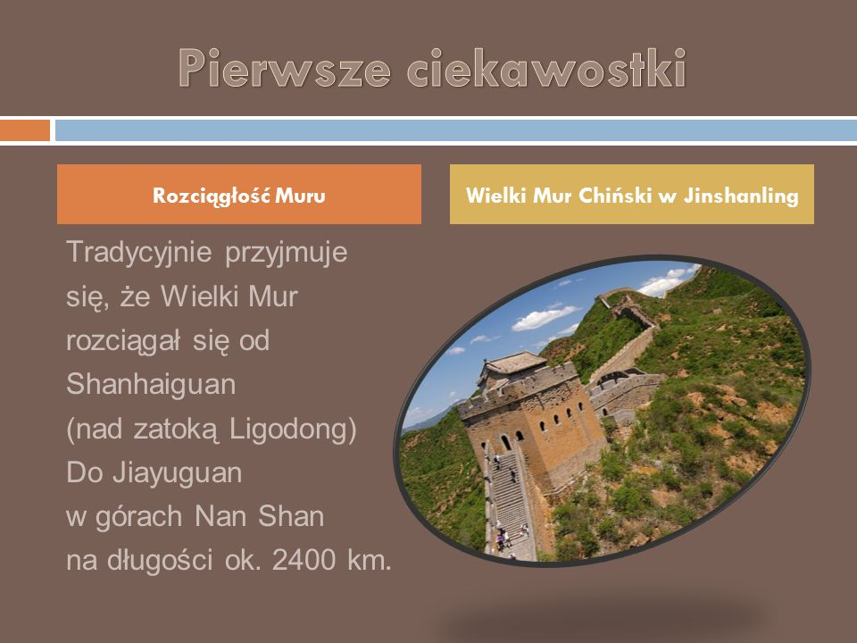 Wielki Mur Chiński w Jinshanling
