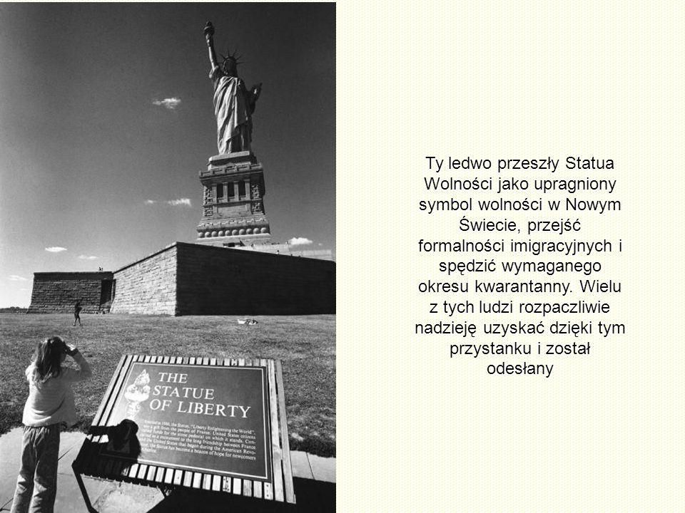 Ty ledwo przeszły Statua Wolności jako upragniony symbol wolności w Nowym Świecie, przejść formalności imigracyjnych i spędzić wymaganego okresu kwarantanny.