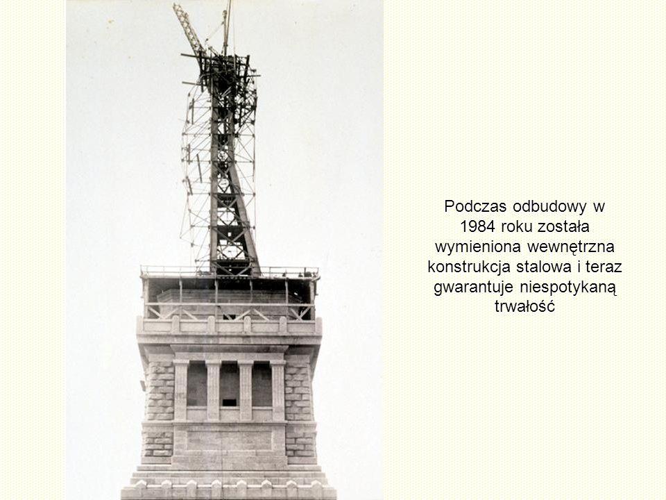 Podczas odbudowy w 1984 roku została wymieniona wewnętrzna konstrukcja stalowa i teraz gwarantuje niespotykaną trwałość