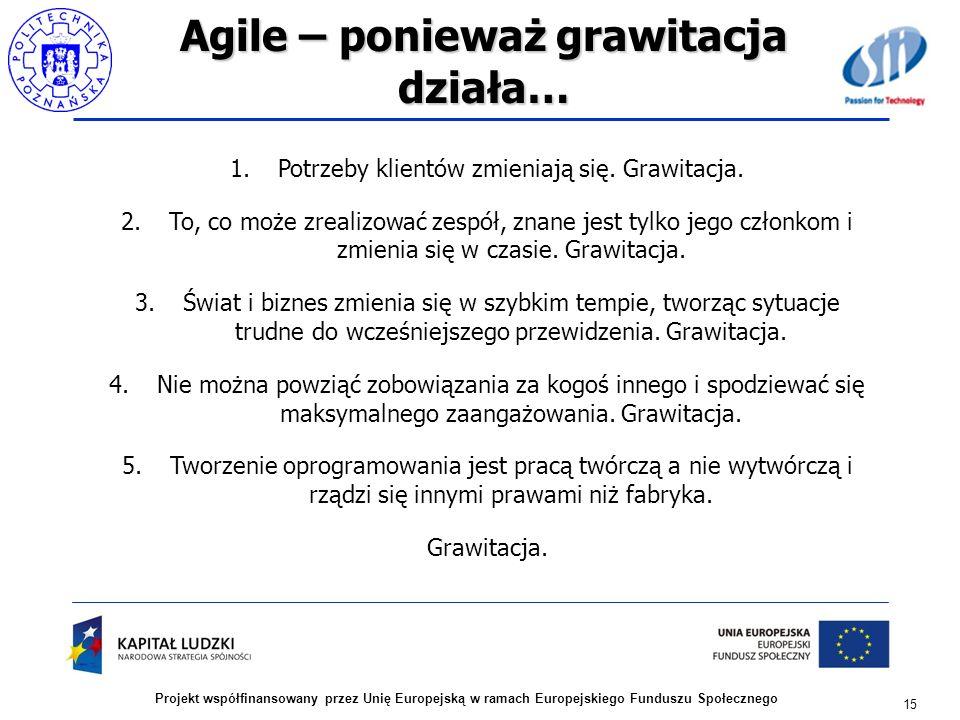 Agile – ponieważ grawitacja działa…