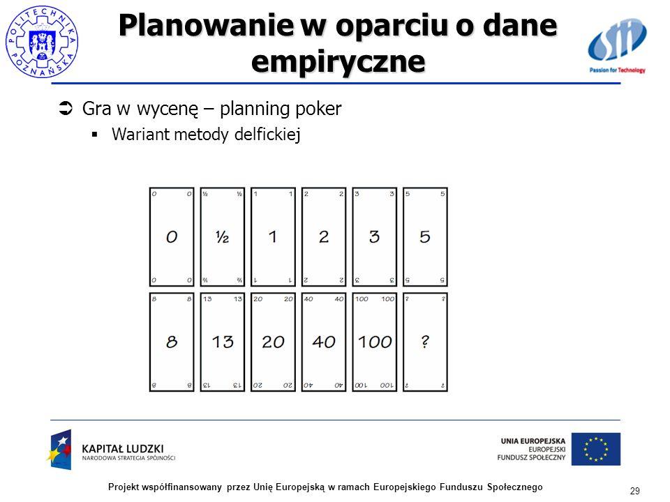 Planowanie w oparciu o dane empiryczne