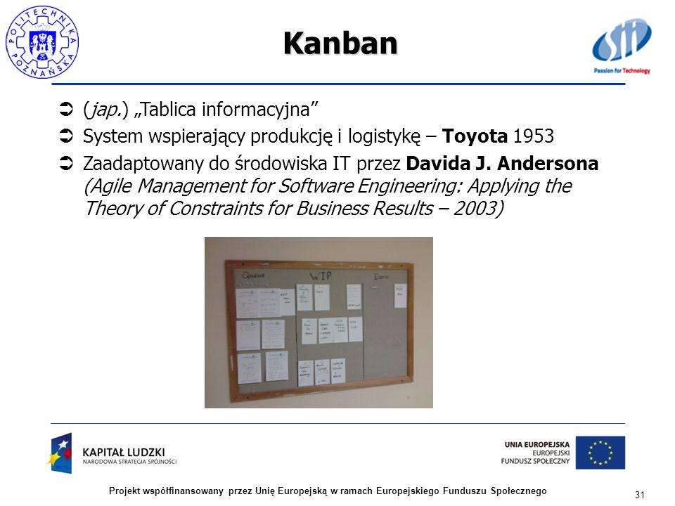 """Kanban (jap.) """"Tablica informacyjna"""