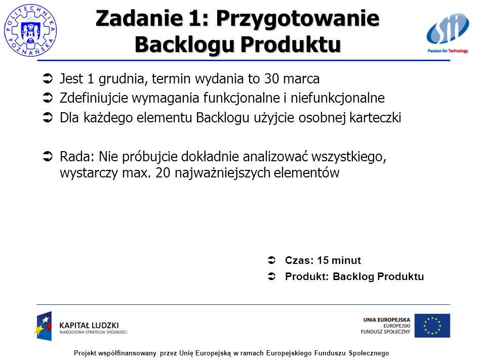 Zadanie 1: Przygotowanie Backlogu Produktu