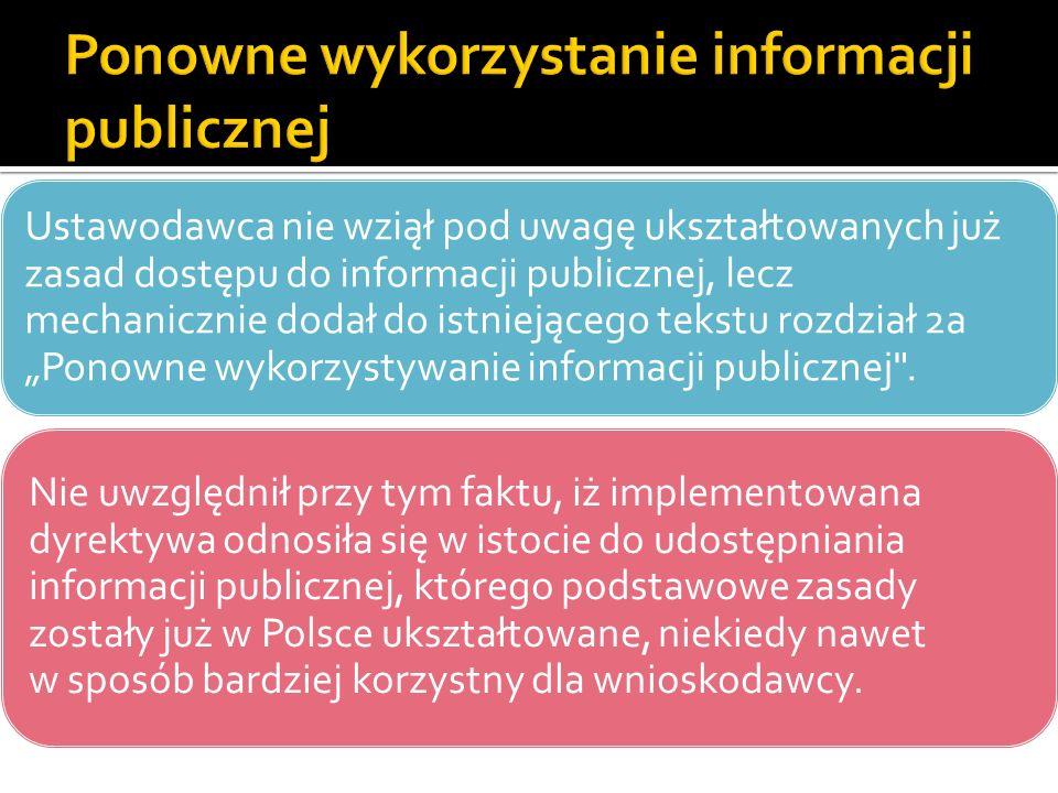 Ponowne wykorzystanie informacji publicznej