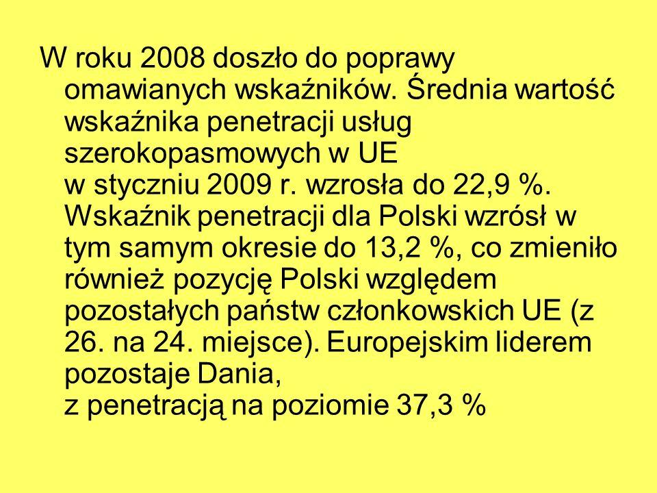 W roku 2008 doszło do poprawy omawianych wskaźników