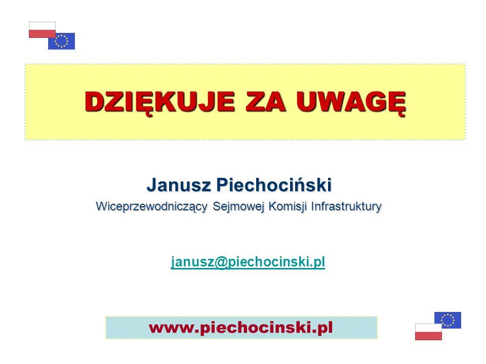 Janusz Piechociński Wiceprzewodniczący Sejmowej Komisji Infrastruktury