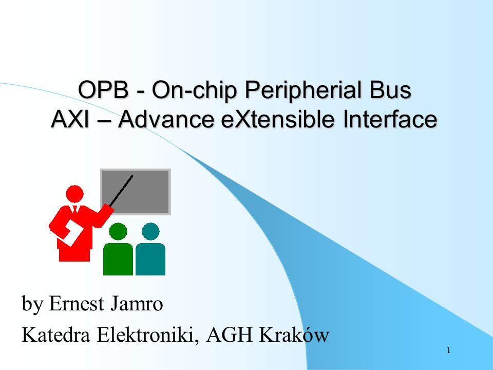 OPB - On-chip Peripherial Bus AXI – Advance eXtensible Interface