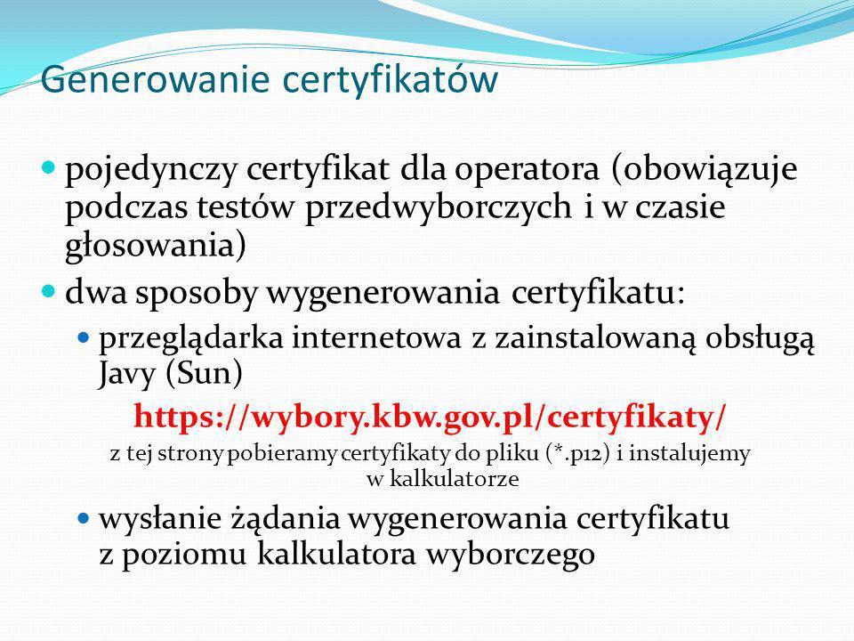 Generowanie certyfikatów