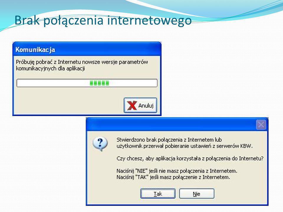 Brak połączenia internetowego