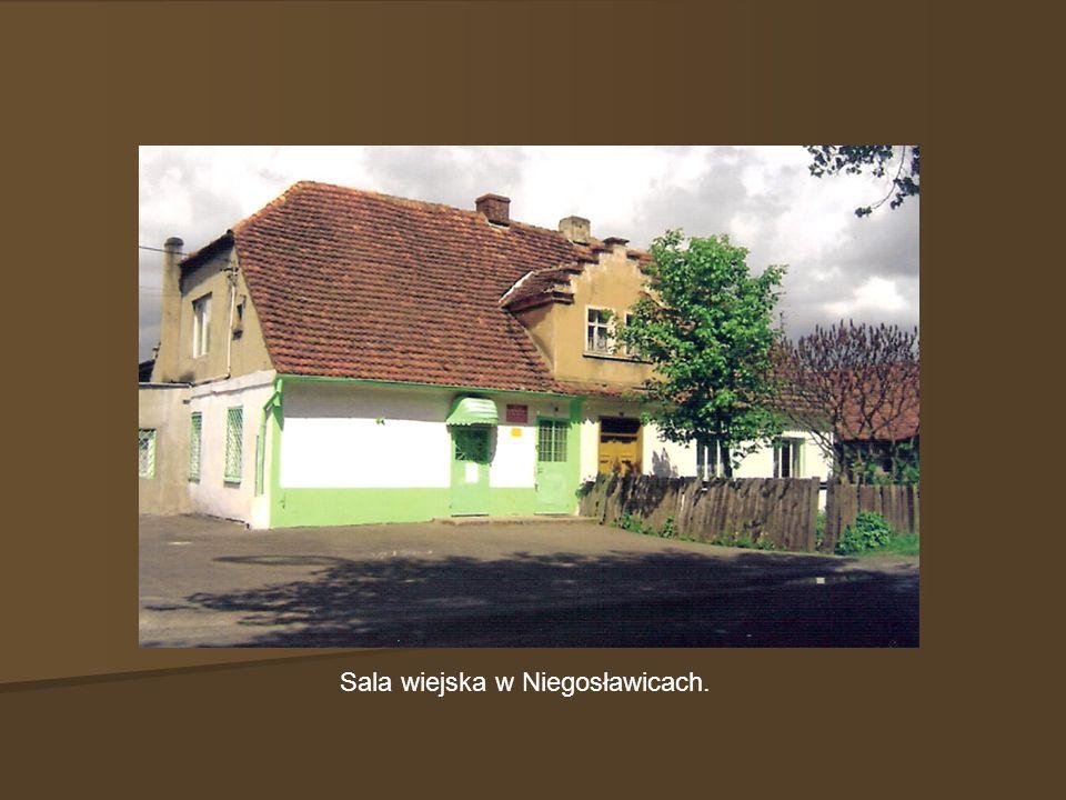 Sala wiejska w Niegosławicach.