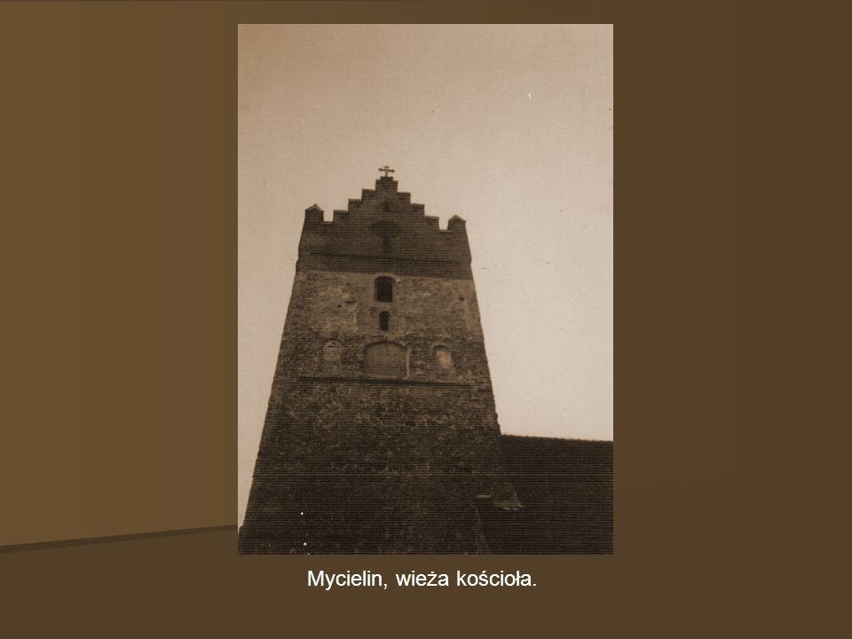 Mycielin, wieża kościoła.