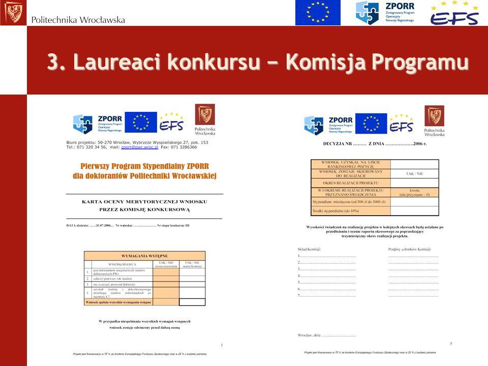 3. Laureaci konkursu − Komisja Programu