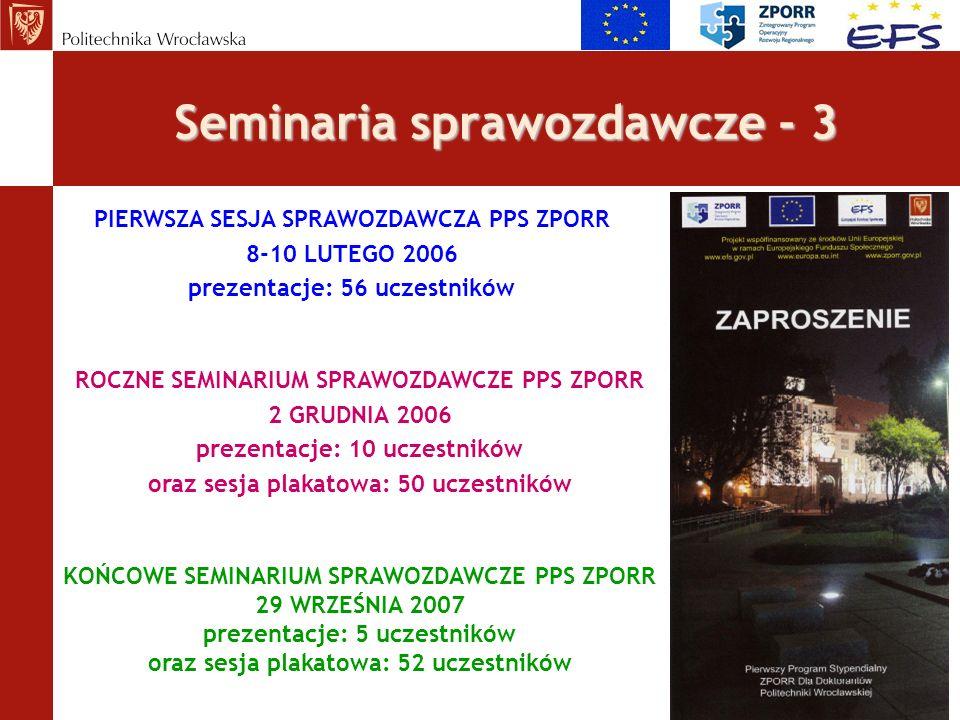 Seminaria sprawozdawcze - 3