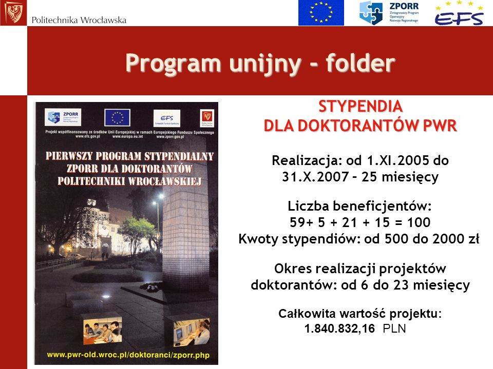 Program unijny - folder
