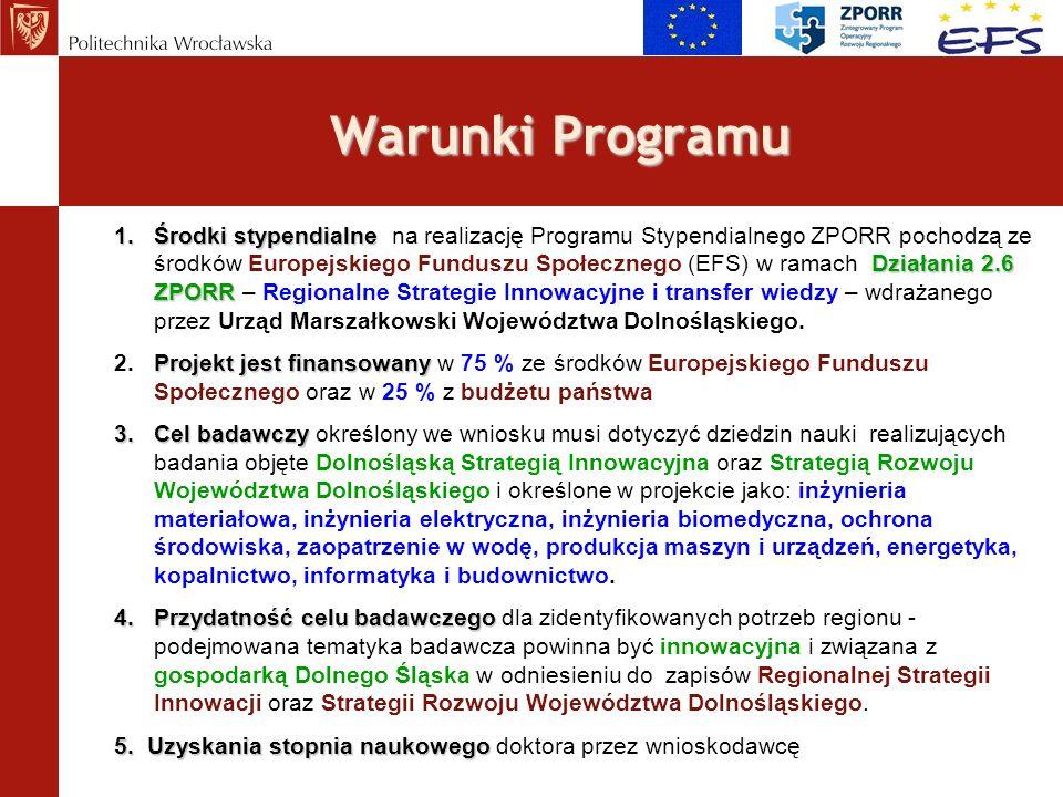 Warunki Programu