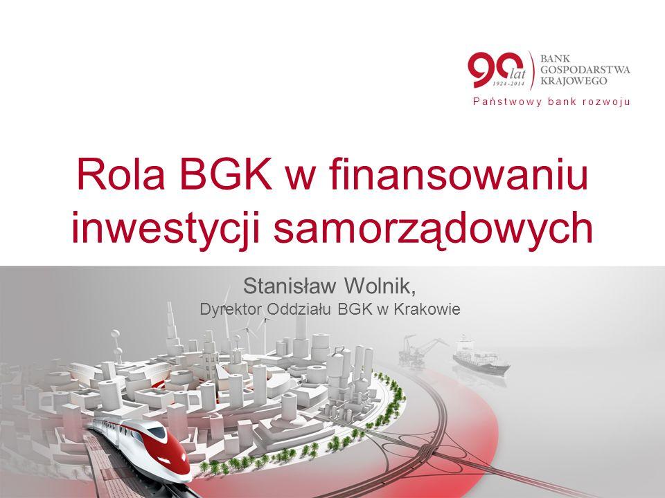 Rola BGK w finansowaniu inwestycji samorządowych