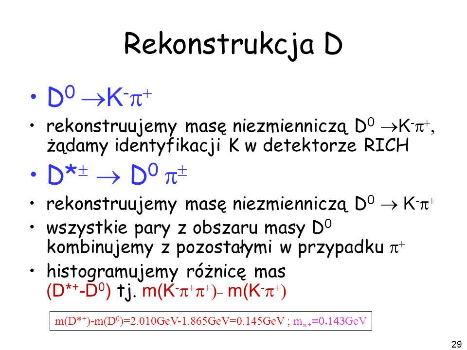 m(D*+)-m(D0)=2.010GeV-1.865GeV=0.145GeV ; mp+=0.143GeV