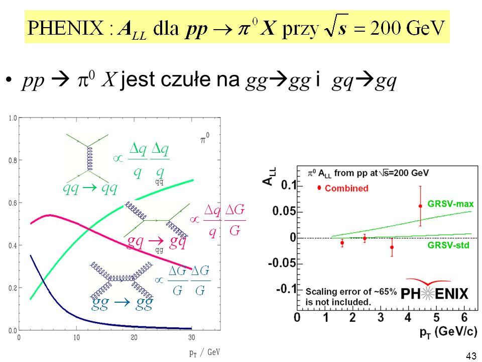 pp  p0 X jest czułe na gggg i gqgq