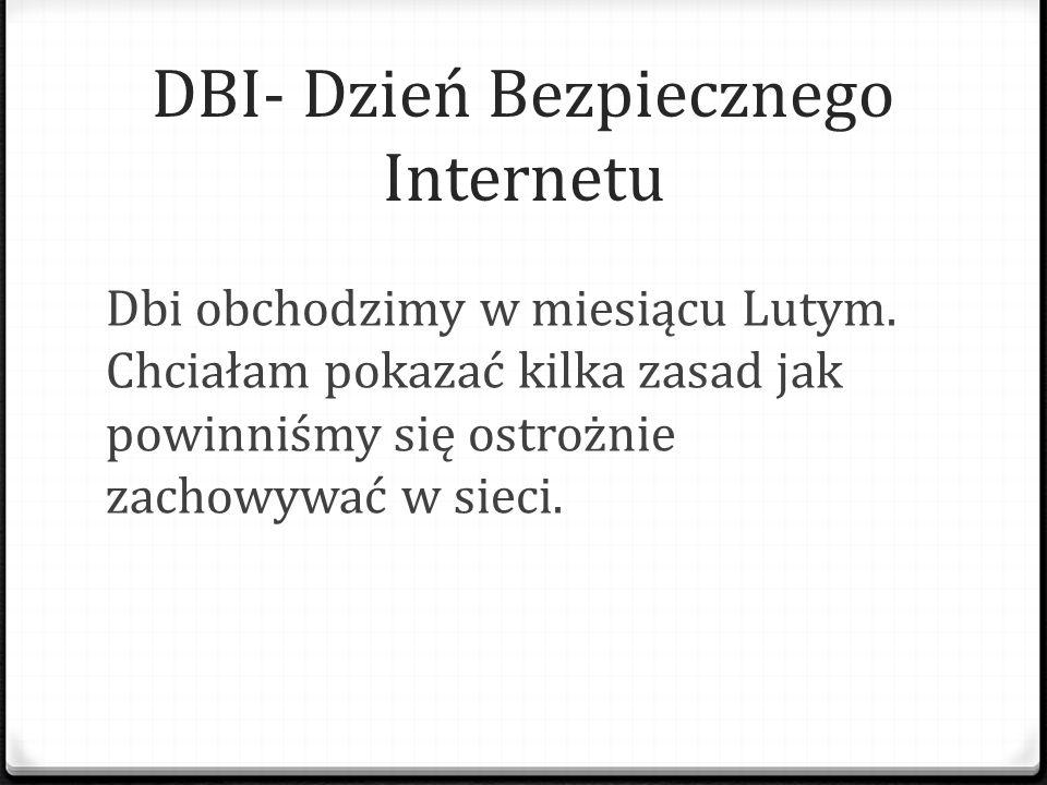 DBI- Dzień Bezpiecznego Internetu